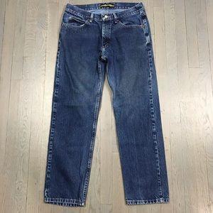 Lee Regular Fit Straight Leg Med Wash Denim Jeans